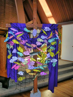 Fish on the Lenten Cross